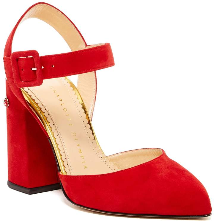Charlotte Olympia Block Heel Pointed Toe Pump