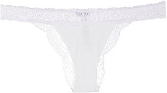La Perla Lace Trim Thong