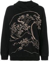 Bellerose wave embroidered hoodie