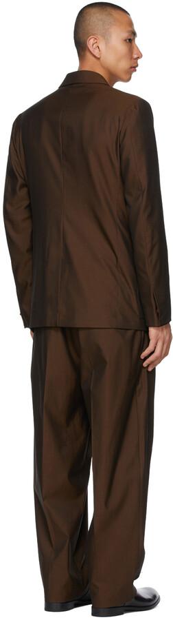 Thumbnail for your product : Ermenegildo Zegna Couture Brown Cotton Suit