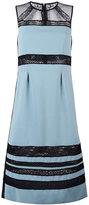 Bottega Veneta lace panel mid-length dress
