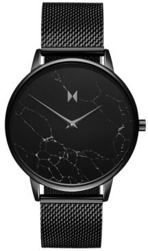 MVMT Women's Boulevard Melrose Marble Black Stainless Steel Mesh Bracelet Watch 38mm