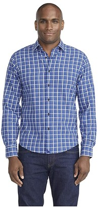 UNTUCKit Lightweight Flannel Fresco Shirt (Blue) Men's Clothing