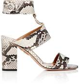 Aquazzura Women's Safari Snakeskin Ankle-Strap Sandals