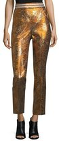 Peter Pilotto Cropped Metallic Jacquard Pants