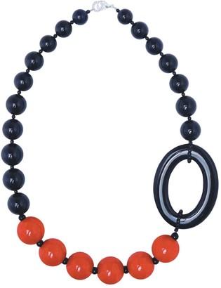 Pietrasanta Chunky Black & Red Statement Necklace