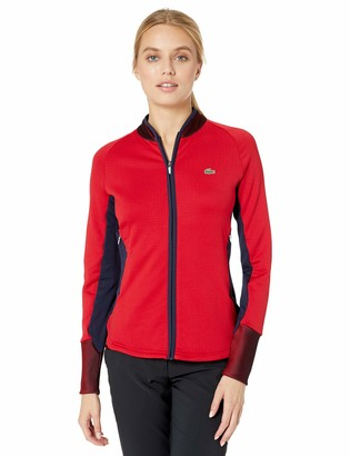 Lacoste Women's Sport Full Zip MID Layer Ergonomic Golf Sweatshirt