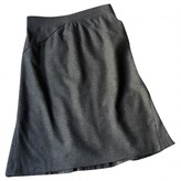 Carolina Herrera Grey Wool Skirt for Women