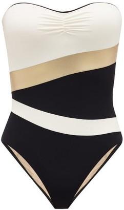 ZEUS + DIONE Halki Bandeau Swimsuit - Black Multi