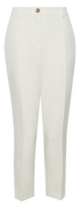 Dorothy Perkins Womens Ivory Button Ankle Grazer Trousers