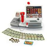 Kettler Theo Klein Electronic Toy Cash Register in White/Grey