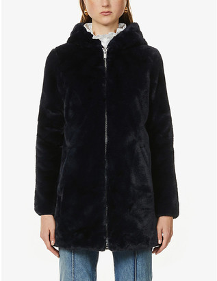 Claudie Pierlot Florent hooded faux-fur coat