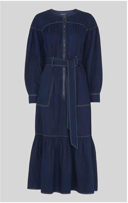 Whistles Hilde Tiered Denim Dress