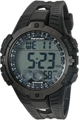 Timex Marathon by Men's T5K802 Digital Full-Size Black/Gray Resin Strap Watch