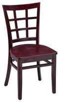 Regal Beechwood Lattice Back Seat Solid Wood Dining Chair