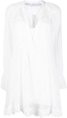 IRO Lace-Detailing Layered Mini Dress