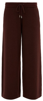 Johnstons of Elgin Johnston's Of Elgin - Collette Wide-leg Cashmere Trousers - Dark Brown