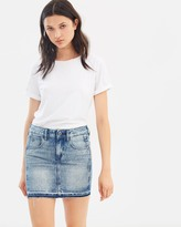 G Star Arc Ripped Long Mini Skirt