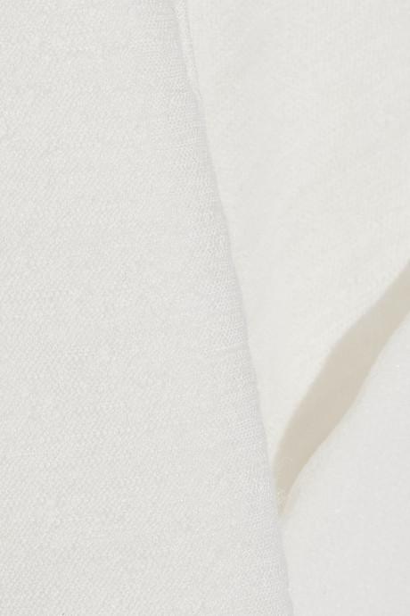 Burberry Slub wool-blend jersey and silk-chiffon T-shirt