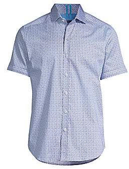 Robert Graham Men's West Check Print Sport Shirt