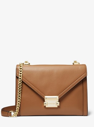 MICHAEL Michael Kors Whitney Large Leather Convertible Shoulder Bag