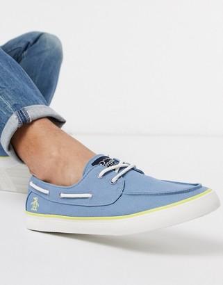 Original Penguin boat shoe in blue