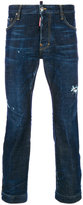 DSQUARED2 cropped straight jeans - men - Cotton/Polyester/Spandex/Elastane - 44