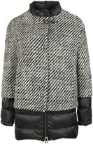 Fay Black And White Double Layer Coat