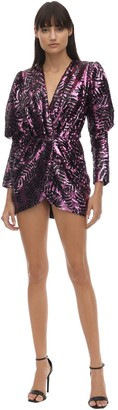 Giuseppe di Morabito Sequined Balloon Sleeves Mini Dress