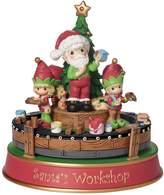 Precious Moments Santa's Workshop Deluxe Musical Christmas Figurine