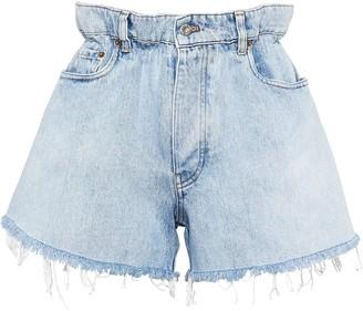 Miu Miu High-Waisted Denim Shorts