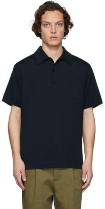 Dries Van Noten Navy Pocket Polo