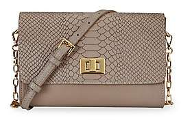 GiGi New York Women's Catherine Embossed Python Clutch Crossbody Bag