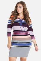 Fashion to Figure Paradise Lace-Up Sweater Dress