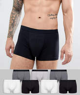 Asos Trunks In Monochrome 7 Pack Save