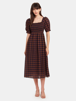 The Great The Savanna Smocked Midi Dress