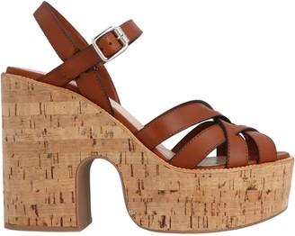 Miu Miu Cork Heeled Sandals