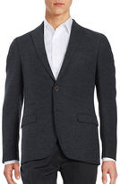 Black Brown 1826 Textured Two-Button Jacket
