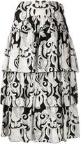 See by Chloe Geometric Print Midi Skirt