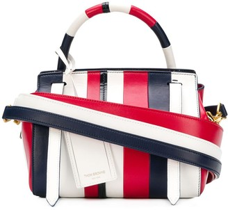 Thom Browne 3-Strap Small RWB Patchwork Bag