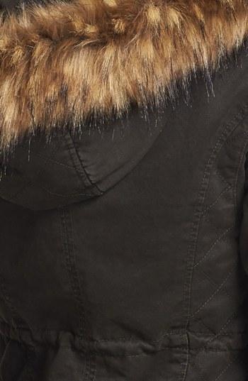 GUESS Faux Fur Trim Parka (Online Only)