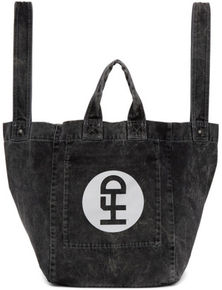 Honey Fucking Dijon Black Denim Tote