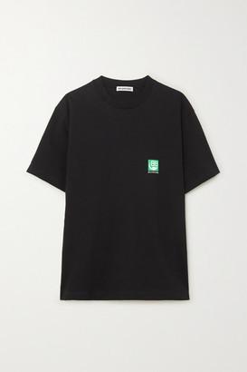 Balenciaga Printed Cotton-jersey T-shirt - Black