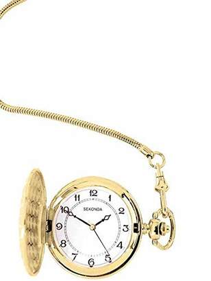 Sekonda Women's Quartz Watch with White Dial Analogue Display and Gold Stainless Steel Bracelet 3799.3