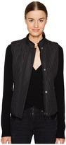 Belstaff Westwell Lightweight Technical Quilt Vest w/ Faux Fur Lining Women's Vest