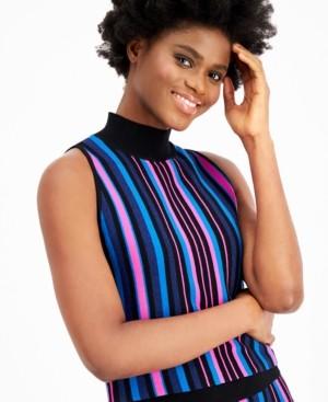 Bar III Striped Sweater Tank Top, Created for Macy's