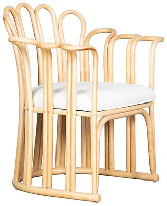 David Francis Furniture Calla Accent Chair - White
