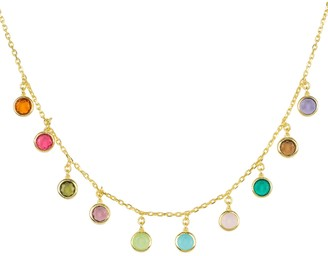 Latelita Florence Multi Coloured Gemstone Necklace Gold