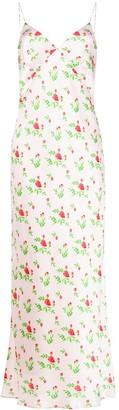 BERNADETTE Rose-Print Slip Dress