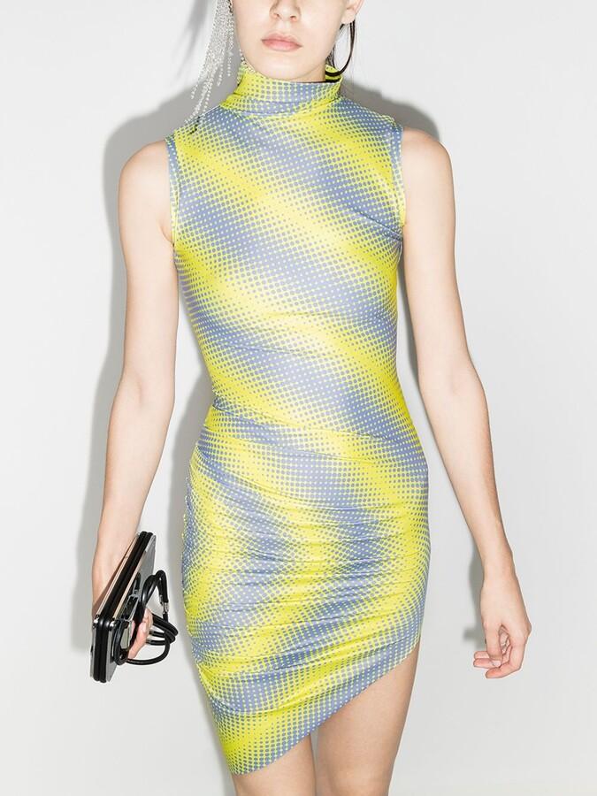 Thumbnail for your product : MAISIE WILEN Yellow Diagonal Print Mini Dress